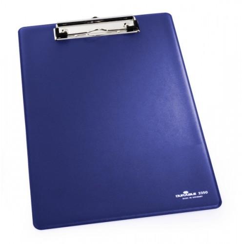Доска планшет Durable, А4, с металлическим прижимом, темно-синяя, арт.D2350-07