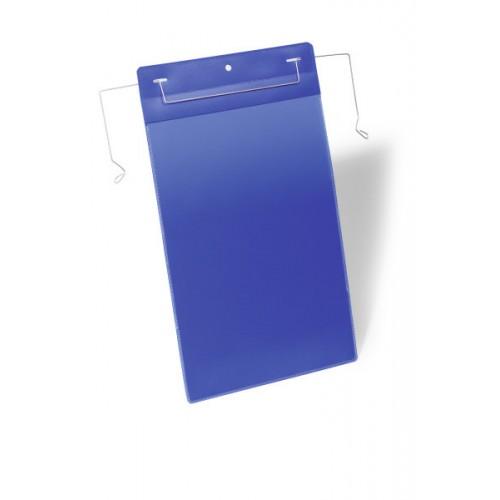Карман для маркировки Durable, с проволочным фиксатором, А5, вертикальный, синий, арт.D1753-07