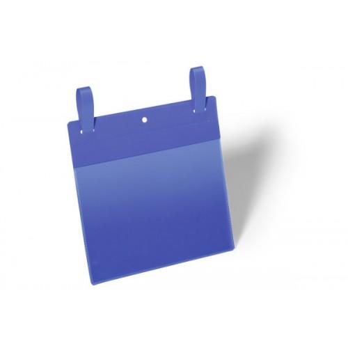Карман с ремешком застежкой Durable, А5, горизонтальный, синий, арт.D1749-07