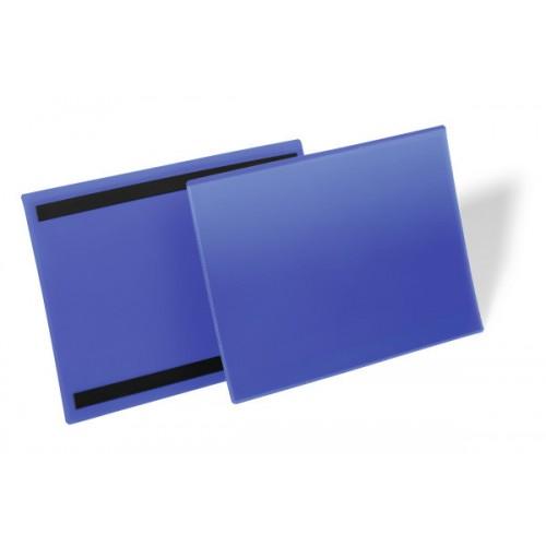 Карман для маркировки Durable, А4  горизонтальный, c магнитом, синий, арт.D1745-07