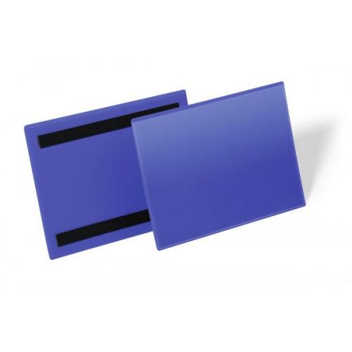 Карман для маркировки Durable, А5  горизонтальный, c магнитом, синий, арт.D1743-07