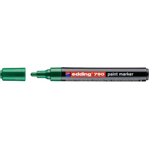 Маркер лаковый промышленный Edding (Эддинг) 790, круглый наконечник, 2-3 мм, зеленый 004