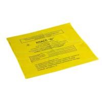 Пакеты (мешки) для медицинских отходов класса Б, полимерные одноразовые, 500*600мм, цвет желтый, 16мкм (100шт/уп)