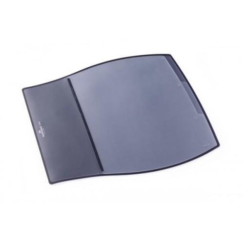 Настольное покрытие для стола Durable с прозрачным верхним слоем, 39х44 см, черное, арт.D7209-01