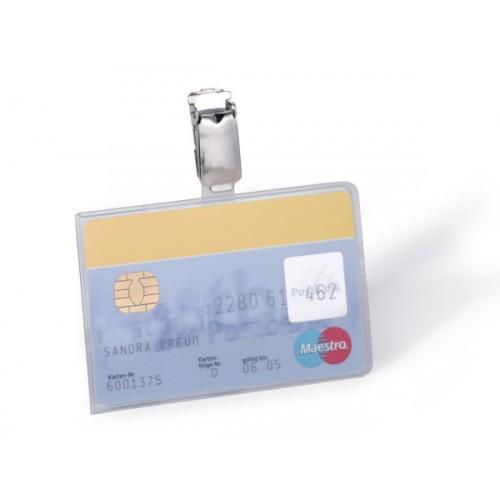 Бейдж для магнитных карт Durable, с клипом, 54х90 мм, арт.D8113-19