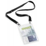 Бейдж Durable Event Badge А6, с тесьмой, черный, арт.D8525-01