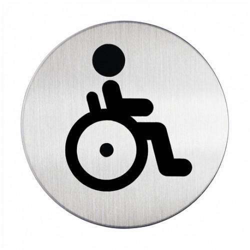 Пиктограмма Durable Туалет для инвалидов, 83 мм, металл, арт.D4906-23