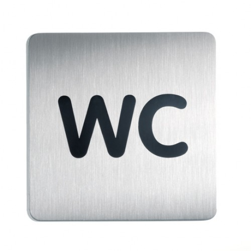 Пиктограмма Durable WC, 150х150 мм, металл, арт.D4957-23