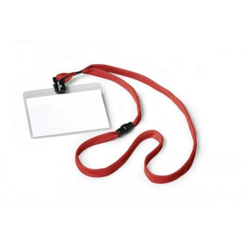 Бейдж Durable на разъемном шнурке, 60х90 мм, красный, арт.D8139-03