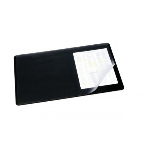 Настольное покрытие для стола Durable с прозрачным верхним слоем, 40x53 см, черное, арт.D7202-01