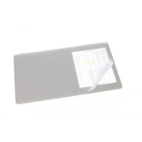 Настольное покрытие для стола Durable с прозрачным верхним слоем, 40x53 см, серое, арт.D7202-10