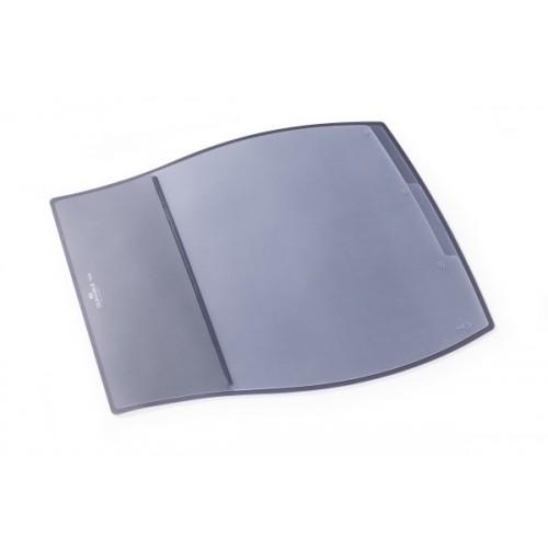 Настольное покрытие для стола Durable с прозрачным верхним слоем, 39х44 см, серое, арт.D7209-10