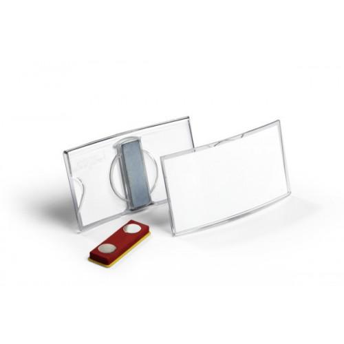 Бейдж с магнитным клипом Durable, 40x75 мм, арт.D8123-19