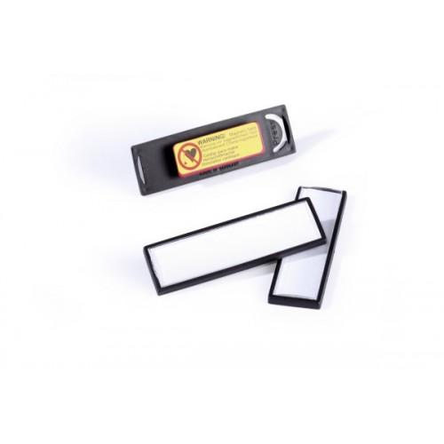Бейдж на магните Durable в рамке, 17х67 мм, черный, арт.D8132-01