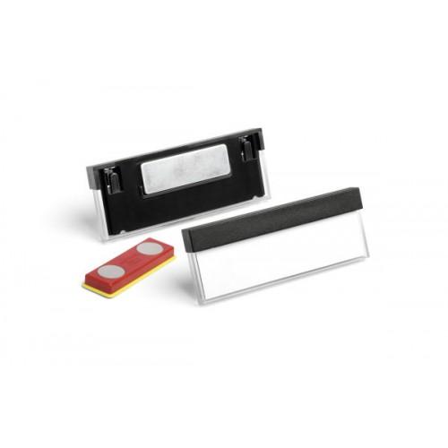 Бейдж с магнитным креплением Durable Select, 17х67 мм, черный, арт.D8505-01