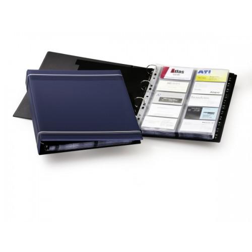 Визитница Durable Visifix 400, А4, 57х90 мм, темно-синяя+русский алфавит, арт.D2388-07