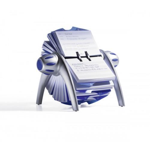 Визитница картотека вращающаяся Durable Telindex Flip, 200 карточек, серебро, арт.D2416-23