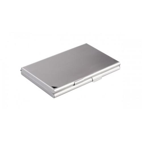 Визитница карманная Durable, 2 отделения, алюминиевая/матовая, арт.D2433-23