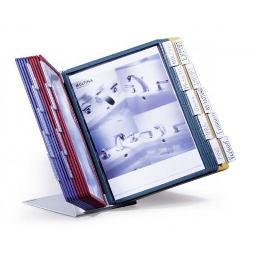 Демосистема настольная Durable Vario Desk Unit, А4, 20 демопанелей, арт.D5699-00