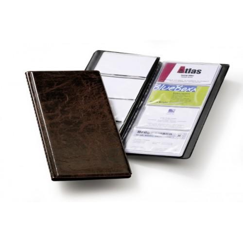 Визитница Durable Visifix 96, 253х115мм, ПВХ, коричневая, арт.D2380-11
