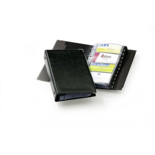 Визитница Durable Visifix 200, 255х145 мм, черная+русский алфавит, арт.D2383-01