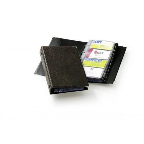 Визитница Durable Visifix 200, 255х145 мм, коричневая+русский алфавит, арт.D2383-11