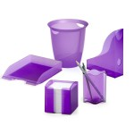 Корзина для мусора Durable Trend, 16 л, прозрачная фиолетовая, арт.D1701710992