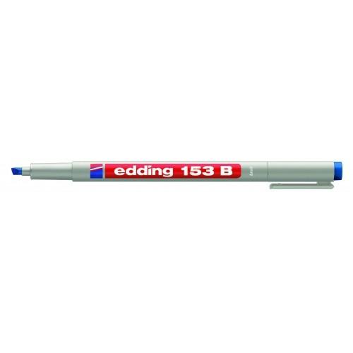 Маркер для проекторных пленок смываемый Edding (Эддинг) 153B, клиновидный наконечник, 1-3 мм, синий 003