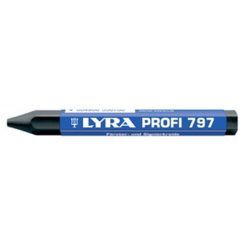 Мелок восковой маркировочный для древесины Lyra, черный, арт.L4870099