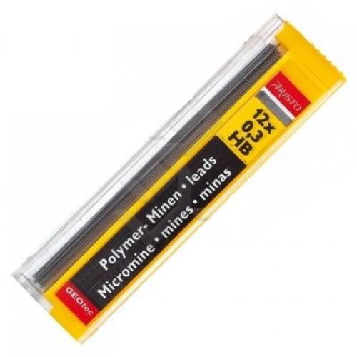 Грифели для автоматических карандашей Aristo (Аристо), 0,35 мм, HB, арт. AH86308