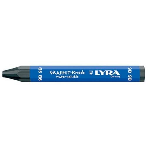 Мелок акварельный графитовый Lyra Graphite Crayons 9B, арт.L5630109