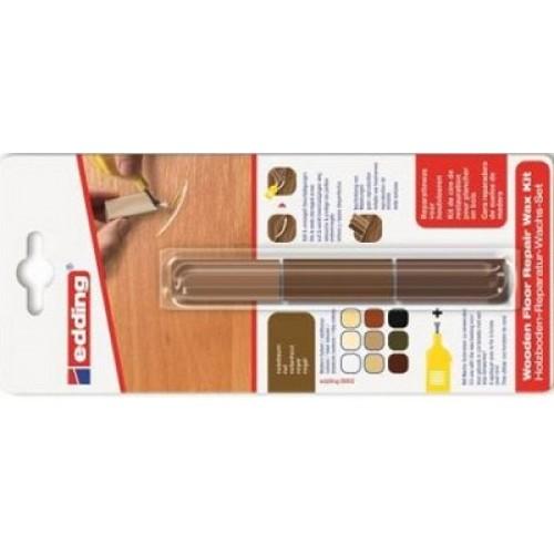 Воск промышленный для ремонта мебели Edding (Эддинг) 8902, грецкий орех 602, 3 шт/уп, блистер, термо