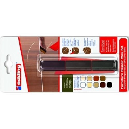 Воск для ремонта мебели Edding (Эддинг) 8902, колониальный 607, 3шт/уп, блистер, термо