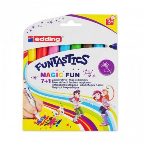 Набор волшебных маркеров для рисования Edding (Эддинг) 13 Funtastics, 3 мм, 8 цветов