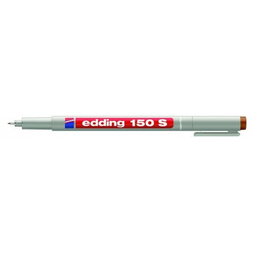 Маркер для проекторных пленок смываемый Edding (Эддинг) 150S, круглый наконечник, 0,3 мм, коричневый 007