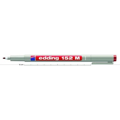 Маркер для проекторных пленок смываемый Edding (Эддинг) 152M, круглый наконечник, 1 мм, коричневый 007