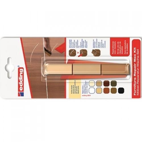 Воск мебельный для ремонта мебели Edding (Эддинг) 8901, сосна 609, 3 шт/уп,