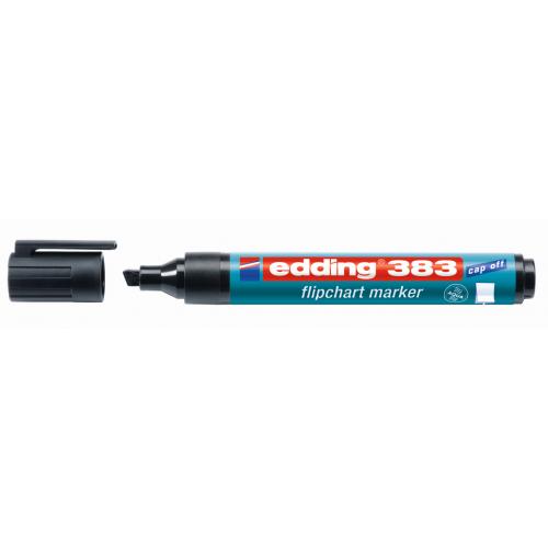 Маркер для флипчарта Edding (Эддинг) 383, клиновидный наконечник, 1-5 мм, черный 001