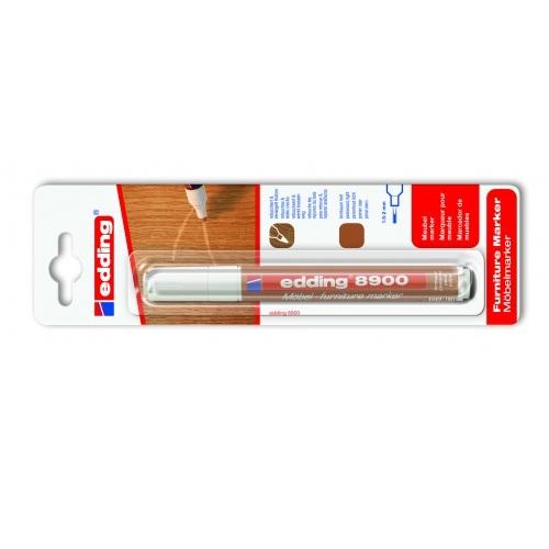 Маркер для мебели Edding (Эддинг) 8900, 1,5-3 мм, грецкий орех светлый, блистер