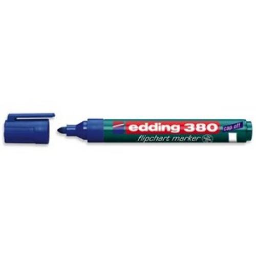 Маркер для флипчарта Edding (Эддинг) 380, круглый наконечник, 1,5-3 мм, синий 003
