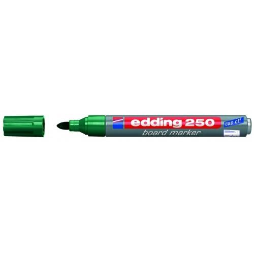 Маркер для эмалевых досок Edding (Эддинг) 250, круглый наконечник, 1,5-3 мм, зеленый 004