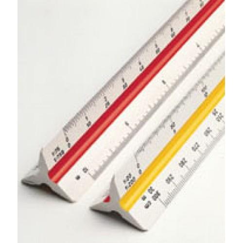 Линейка масштабная трехгранная Rotring (Ротринг) Архитектор 1, 30 см, масштаб 1:10-1:1250, арт. R802020