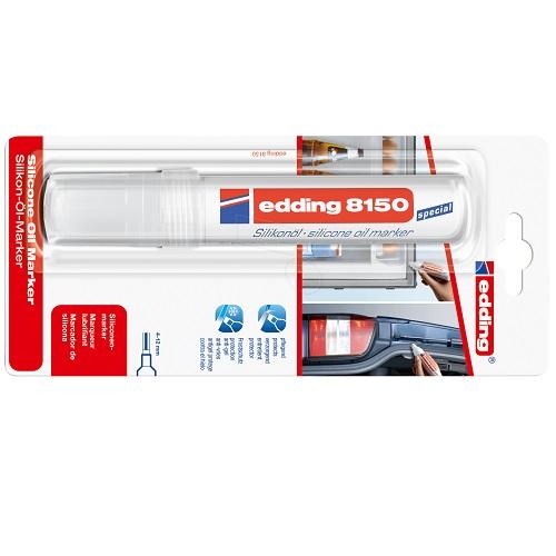 Маркер силиконовый Edding (Эддинг) 8150, с широким клиновидным наконечником, 4-12 мм, бесцветный, блистер