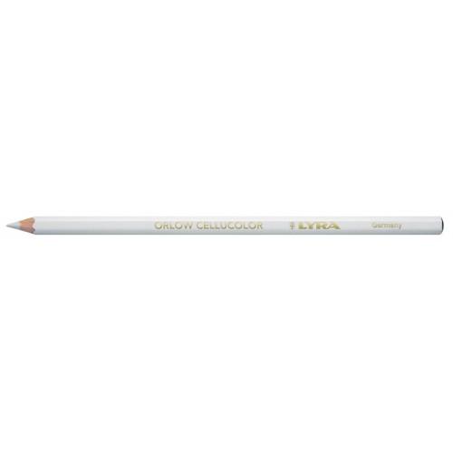 Карандаш Lyra Orlow Cellucolor для стекла и гладких поверхностей, трудностираемый, белый, арт.L2940001