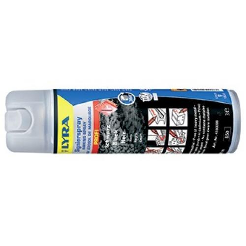 Маркировочный спрей Lyra для профессионального применения в строительстве и лесной промышленности, черный, 500 мл, арт.L4180099