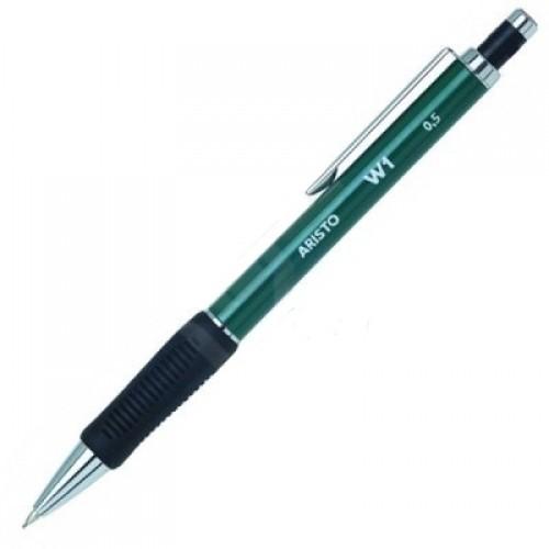 Карандаш автоматический Aristo (Аристо) W1, 0,5 мм, резиновый грип, зеленый, арт. AH85245