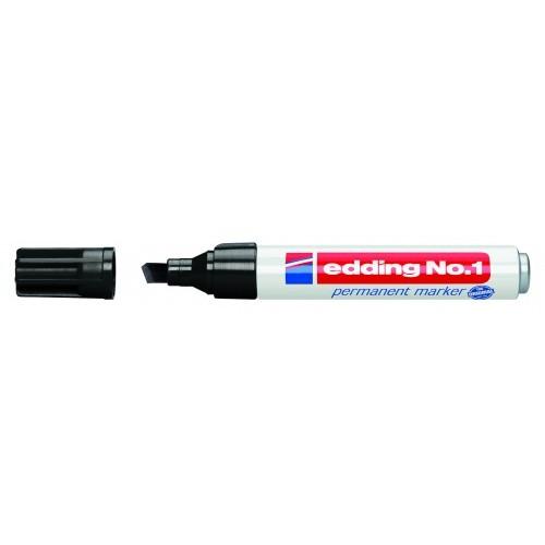 Маркер перманентный промышленный Edding (Эддинг) 1, клиновидный наконечник, 1-5 мм, черный 001