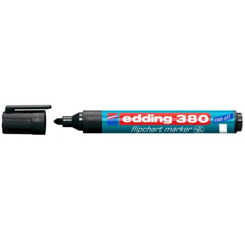 Маркер для флипчарта Edding (Эддинг) 380, круглый наконечник, 1,5-3 мм, черный 001