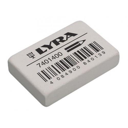 Ластик для карандаша Lyra, 38х25х8 мм, белый , арт.L7401400
