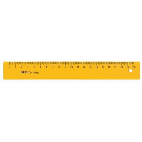 Линейка пластиковая Aristo (Аристо), с канавкой, 30 см, желтая, арт. AH22030